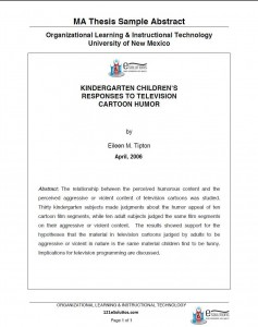 Abstract of a dissertation